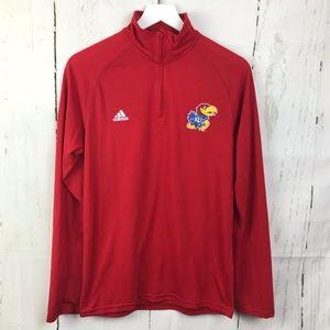Adidas Kansas KU Pullover Quarter Zip